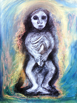 Painting of Sheela na gig